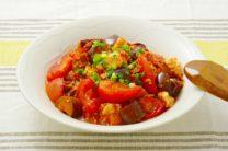 トマトとなすのベジ麻婆豆腐