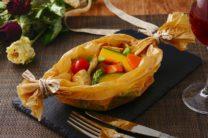 野菜と豚肉の堤オーブン焼き